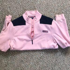 Light pink and navy blue Shep Shirt